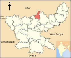 Vị trí của Huyện Koderma