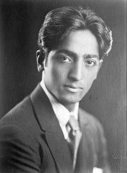 Photograph of Jiddu Krishnamurti circa 1920s