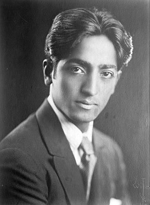 Jiddu Krishnamurti - J. Krishnamurti c. 1920s