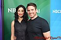 Joanne Kelly & Eddie McClintock 2014 NBC Universal Summer Press Day.jpg