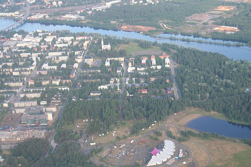 File:Joensuu center from air.jpg