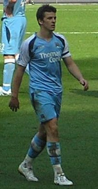 Joey Barton - Barton playing for Manchester City in 2007