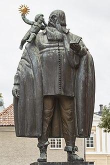 Statue forestillende Johannes Rudbeckius