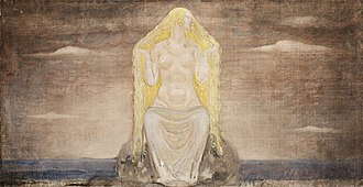 Freyja - Freja (1905) by John Bauer (1882–1918)