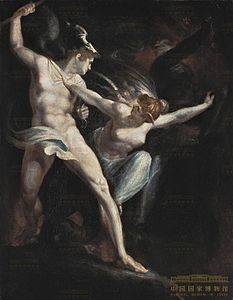 John Henry Fuseli - Satan and Death with Sin Intervening - BStGS inv. no. 9494