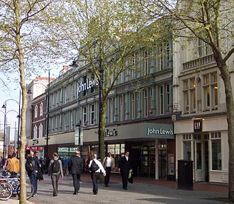 John Lewis & Partners Reading - The front of the store on Broad Street
