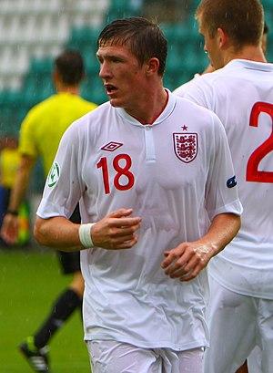 John Lundstram - Lundstram playing for England U19 in 2012