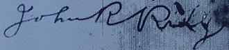 John Rollin Ridge - Image: John Rollin Ridge signature