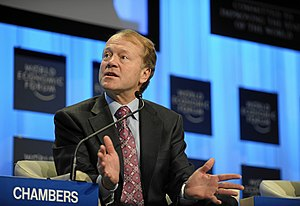 Cisco Systems - John T. Chambers led Cisco as its CEO between 1995 and 2015. (Pictured at 2010 World Economic Forum, in Davos, Switzerland).