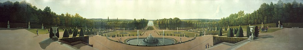 John Vanderlyn - Panoramic View of the Palace and Gardens of Versailles - Google Art Project