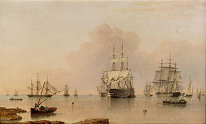 John Ward of Hull - H.M.S. Britannia at Anchor with the Fleet.jpg