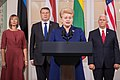 Joint Press Conference by the Baltic presidents and the Vice President of United States (36150355771).jpg