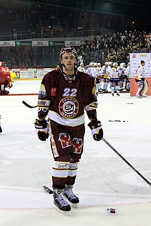 Description de l'image Jonathan Mercier, Genève-Servette vs. SC Bern, 9th March 2013.jpg.