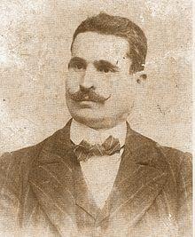 Retrato de José Sánchez Rosa ca. 1895, que se ponía en las aulas de las escuelas fundadas por este pedagogo andaluz.