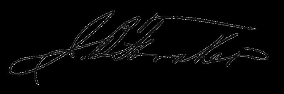 Joseph B. Foraker's signature