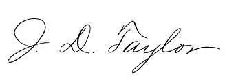 Joseph D. Taylor - Image: Joseph D. Taylor signature