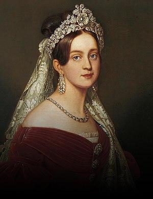 Monarchy of Greece - Image: Joseph Karl Stieler Duchess Marie Frederike Amalie of Oldenburg, Queen of Greece