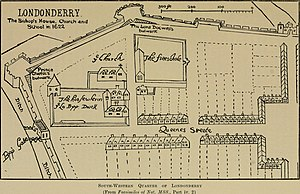 1622 in Ireland - Map of Derry, 1622.