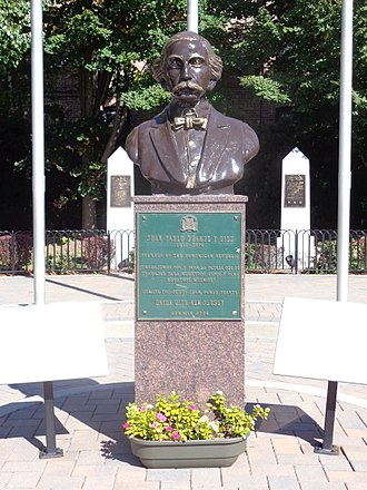 Dominican Americans - Bust in Juan Pablo Duarte Park, Union City