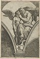 Jupiter embracing Cupid after Raphael's fresco in the Chigi Gallery of the Villa Farnesina in Rome MET DP853528.jpg