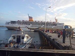 Pelni - One of Pelni Ship, KM Dorolonda visiting port of Pantoloan, Palu, Central Sulawesi, Indonesia