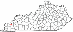 Location of Ledbetter, Kentucky