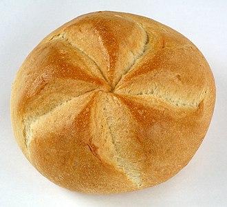 "Bread roll - Typical Austrian bread roll, called ""Kaisersemmel"""