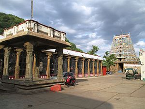Kallazhagar temple - The gateway towers of the temple