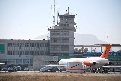 Kam Air at Kabul Airport in 2010