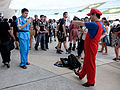 Kankichi Ryotsu Cosplayer Photographing Mario Cosplayer by Smartphone at FF26 20150829.jpg
