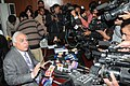 Kapil Sibal briefing the media after receiving the report of Justice (Retd.) Shivraj V. Patil regarding issuance of licences and allocation of spectrum during the period 2001-2009.jpg