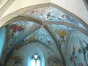 gotické fresky v kapli svatého Jana Křtitele v Olomouci.