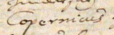 Kepler Autograph 1 (cropped) - name Copernicus in Kepler's handwriting