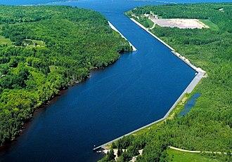Keweenaw Waterway - North end of the Keweenaw Waterway on Lake Superior