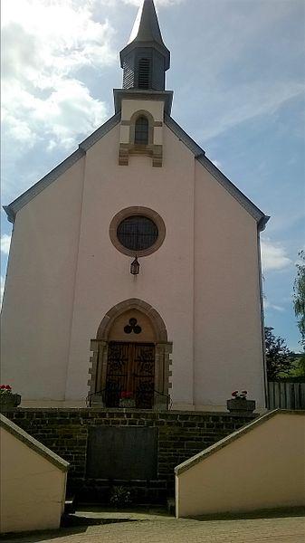 Westfassad vun der Wanseler Kierch