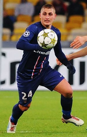 Marco Verratti - Verratti playing for Paris Saint-Germain against Dynamo Kyiv in 2012