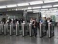 Kievskaya stations entry, turnstiles (Вход на станции Киевская, турникеты) (4975782867).jpg