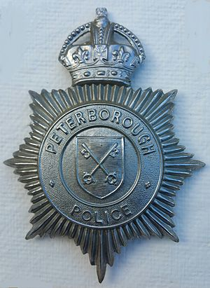 Peterborough Combined Police - Image: Kings Crown Peterborough Combined Police Badge 1947 1952