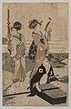 Kitagawa Utamaro - Daimio and his Retinue Crossing a Stream in Plain Near Fuji - 1943.13 - Cleveland Museum of Art.jpg