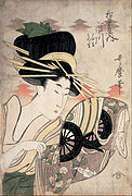 Kitagawa Utamaro - The Courtesan Ichikawa of the Matsuba Establishment - Google Art Project.jpg