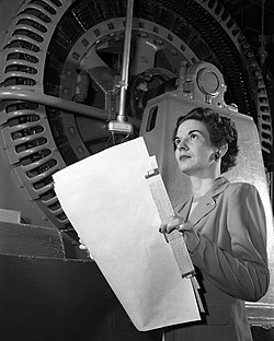 Kitty Joyner, an American engineer in 1952