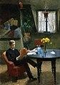 Kitty Kielland - Arne Garborg i malerinnens atelier i Paris - Nasjonalmuseet - NG.M.04169.jpg