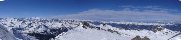 Panorama view from Kitzsteinhorn