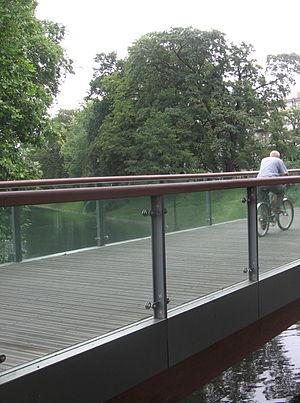 Lophira alata - Lophira alata used as the pavement of wooden footbridge in Wrocław (Poland)