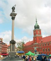 King Zygmunt's Column, erected 1644 in front of Warsaw Castle