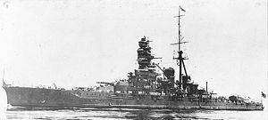 Kongō-class battlecruiser - Kongō following her first reconstruction
