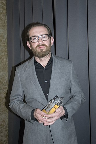 Konstantin Khabensky - Konstantin Khabensky receiving an honorary award for achievements in cinema in 2018, Prague