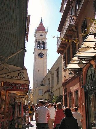 Saint Spyridon Church - View of the belltower.
