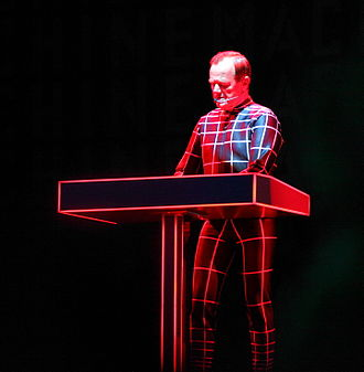 Kraftwerk - Ralf Hütter live at a Kraftwerk performance (Roskilde Festival 2013)