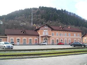 Kranj railway station - Image: Kranj train station front